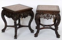437 - Pair of 19th century Chinese hardwood tables.