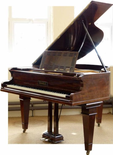 Lot 444-Rosewood Steinharf grand piano.