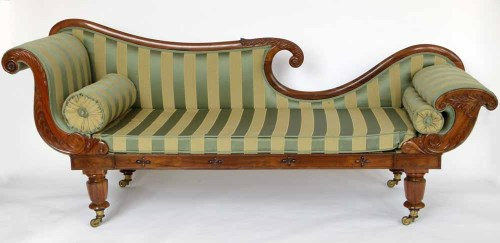 Lot 450-Rosewood chaise longue.