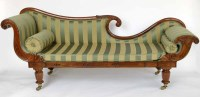 450 - Rosewood chaise longue.