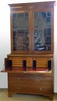 486 - Mahogany secretair bookcase.