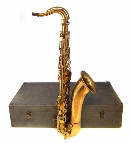 Lot 23-French Adolphe sax cased.