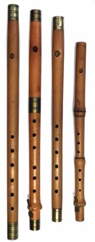 Lot 27-Three box wood fifes also a piccolo.