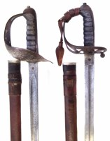 33 - Two rifle officers swords.