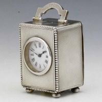 246 - Asprey silver carriage clock