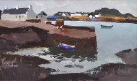 262 - Donald McIntyre, Easdale Island, acrylic.