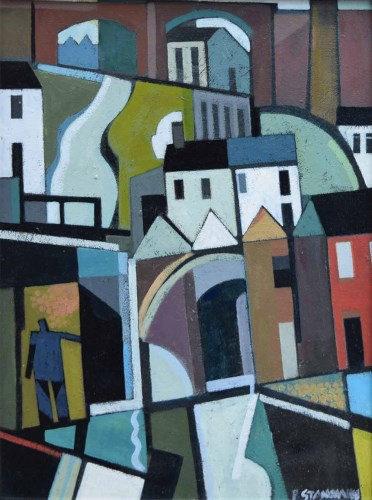 Lot 267 - Peter Stanaway, The Arches, Collyhurst, acrylic.