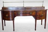 463 - Mid 19th century George III design, figured mahogany sideboard