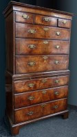 530 - 18th century Queen Anne chest on chest.