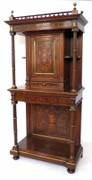 538 - 19th century French walnut side cabinet