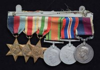 54 - A World War II Royal Air Force group of six medals awarded to W/O. V.H.THORP (513754) R.A.F.