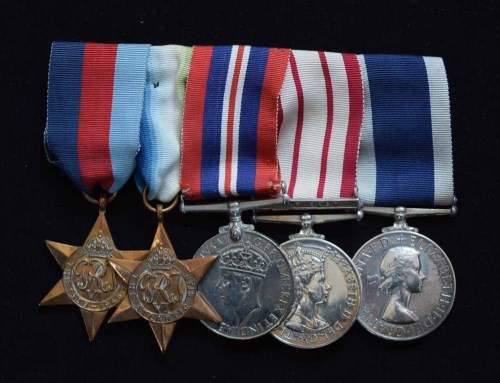 Lot 55-A World War II Royal Navy group of five medals awarded to MX.122739 D.F.W. WELCH. S.P.O. H.M.S. BELLEROPHON.