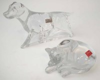 94 - Baccarat dog and cat.