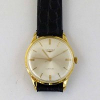 365 - Longines automatic 18ct gold man's watch on