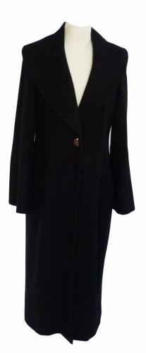 Lot 371 - Chanel black full length coat.