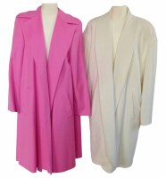 Lot 373-Escada pink knee length coat and another in