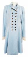Lot 379-Moloh blue jacket, gold buttons and lace trim.