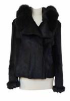 Lot 383-A Prada goat fur jacket with fox fur trim