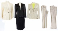 Lot 386-Three Versace Classic suits including two trousers suits and one skirt suit