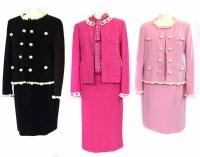 Lot 387-Three Moschino suits