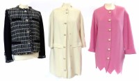 Lot 388-Two Moschino cardigans a jacket and a dress