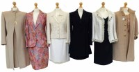 Lot 393-A collection of suits to include Escada, etc (7)