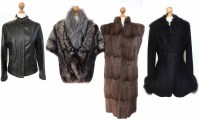 Lot 398-A collection of fur and leather items of clothing