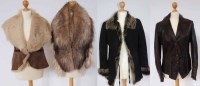 Lot 399-A collection of fur and leather items of clothing