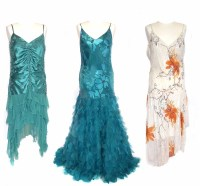 Lot 403-Three embroidered occasion dresses
