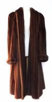 Lot 404-Brown mink coat