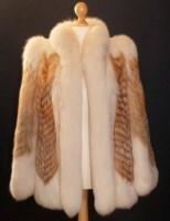 Lot 406-A white fur jacket