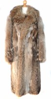 Lot 407-A multi-toned wolf fur coat