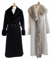 Lot 417-Two full length coats with fur collars