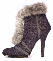 Lot 427 - Christian Dior grey suede high heeled ankle boots