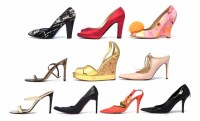 Lot 429 - Eleven pairs of retro women's high heeled shoes by various designers