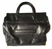 Lot 449 - Alexander Wang black leather tote bag