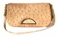 Lot 450 - Christian Dior pink ostrich leather shoulder bag