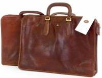 Lot 465 - Two brown leather brief cases by The Bridge