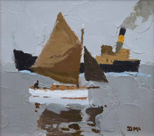 480 - Donald McIntyre, Sail and Steam No.1, oil.