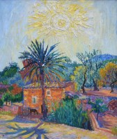 481 - Frederick Gore, Evening, Majorca, oil.