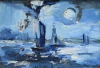483 - J.L. Isherwood, Solent, oil on board.
