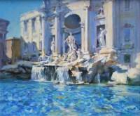 487 - Gordon Radford, The Trevi Fountain, Rome, oil.