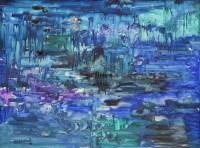 555 - J.L. Isherwood, Aquarium, oil on board.