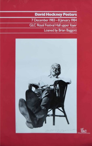 588 - David Hockney signed exhibition poster.
