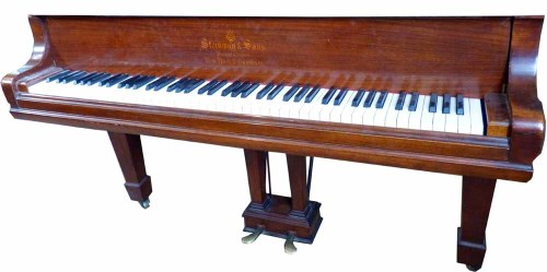 Lot 691-Steinway & Sons grand piano model 'O'.