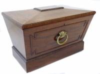 713 - George III mahogany cellaret of sarcophagus shape,