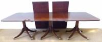 715 - Three pedestal regency style mahogany dining table
