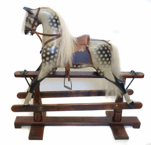Lot 37-Early 20th century rocking horse