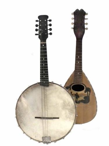 Lot 47-Clifford Essex mandolin banjo or banjoun also one