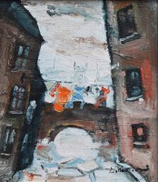 328 - William Turner, The Medlock, Charles Street, Manchester, oil.
